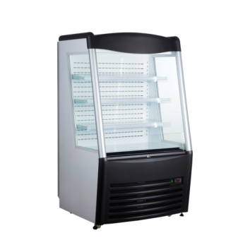 180L To 390L Drink and Beverage Open Air Front Glass Display Cooler Showcase Commercial Refrigerator With CE RoHS UL ETL