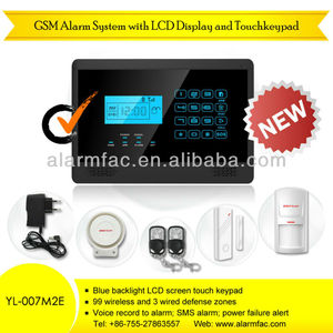 gsm safe home burglar security alarm /gsm security wireless smart security alarm system OEM/ODM 868 MHZ accept !!! --YL-007M2E