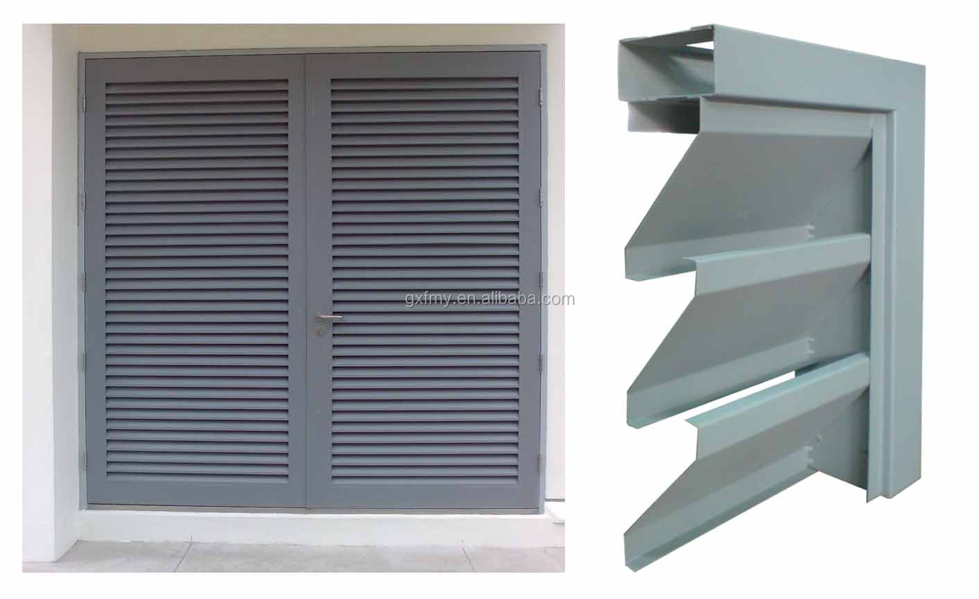 Hot sale exterior aluminum roller shutter window aluminum window louver aluminum louver blade for Exterior louvered window shutters