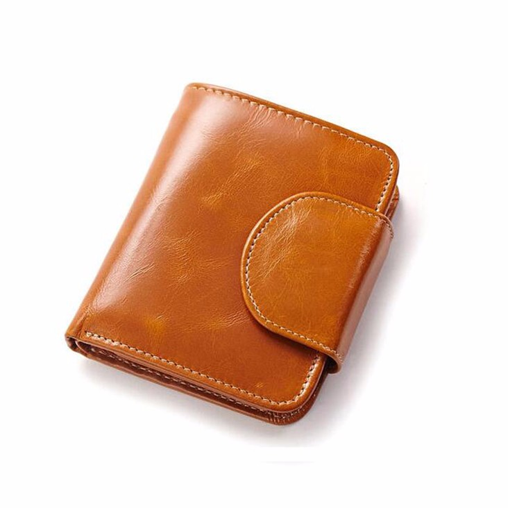 Latest OEM small custom maker ID holder blank genuine cow leather credit card wallet women