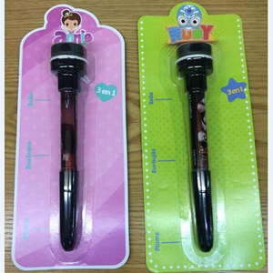 best sale funny blowing bubble stamp pen with light CH-6691