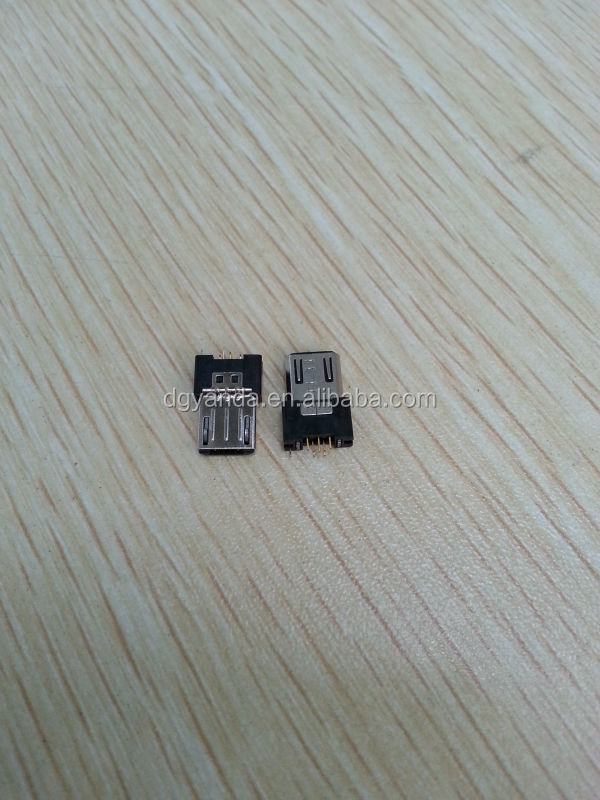 Professional Manufacturer of Micro USB 5P Male Vertical Dip Connector