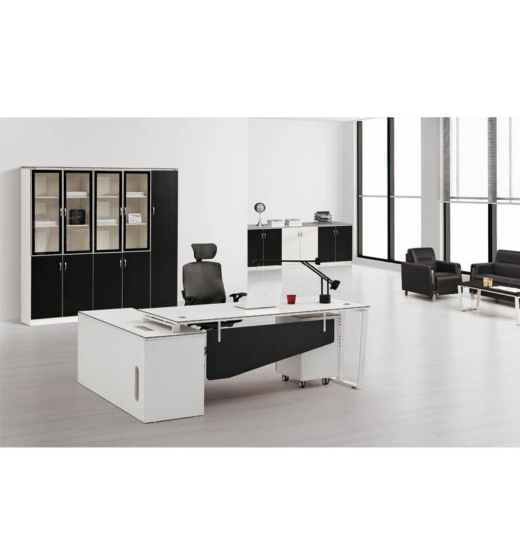 Office Furniture In Penang Particle Board Computer Executive Desks For Sale