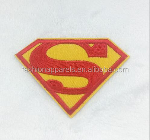 Superman Embroidery Iron on patch clothing sewn applique backpack Hat Motif