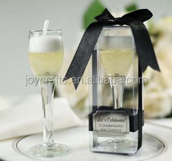 Wedding Return Gifts Champagne Flute Gel Candle