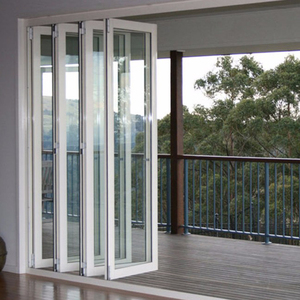 Standard Size French Style Large Sliding PVC Plastic Folding Door