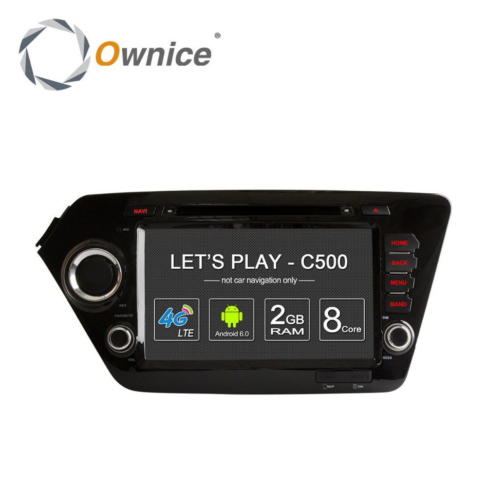 Ownice C500 Android 6.0 Octa core car DVD player for Kia K2 Rio support DVR <strong>TV</strong> 4G LTE DAB+ Tunner