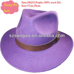 0b80b0f4 Purple Fedora Hats, Purple Fedora Hats Suppliers and Manufacturers at  Alibaba.com