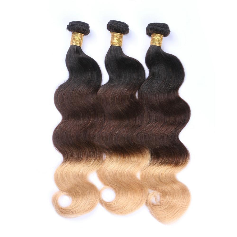 Hair Weaves Shenlong Hair Body Wave Ombre Hair Bundles Brazilian Remy Human Hair Bundles 3 Pcs 1b-99j 10-24 Inches Free Shipping