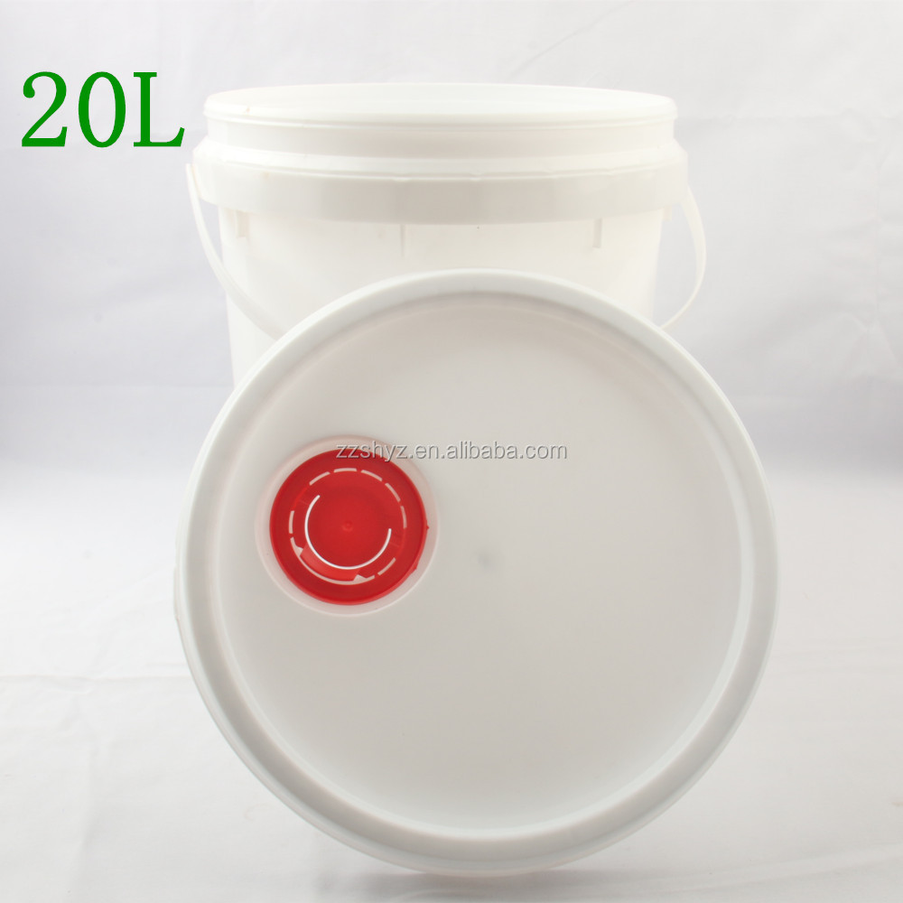 20 L plastic pail metal bucket plastic bucket with lid with handle