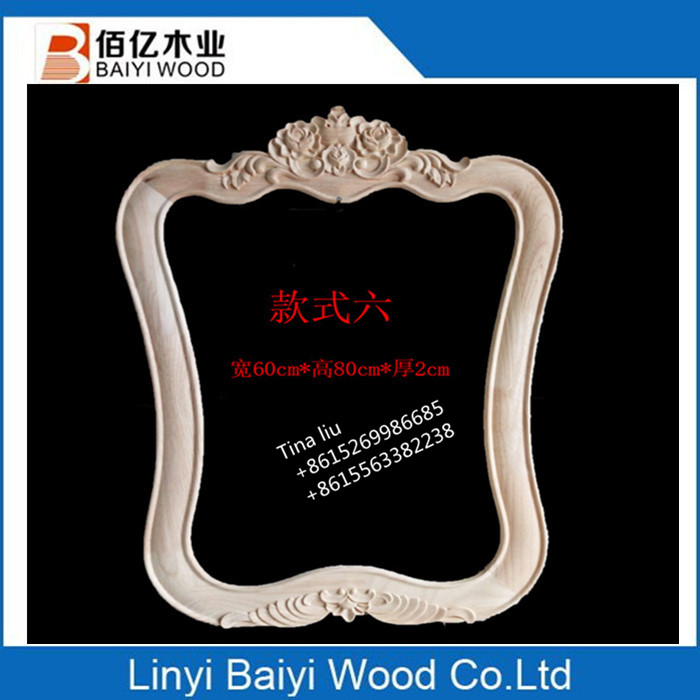 unfinished wood carving wood mirror frames