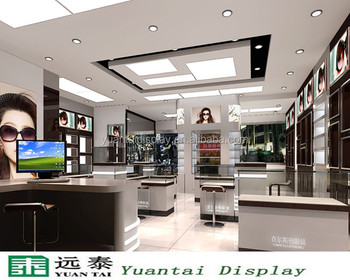 Optical Showroom Counter Designs, Sunglasses Display Cabinet In China