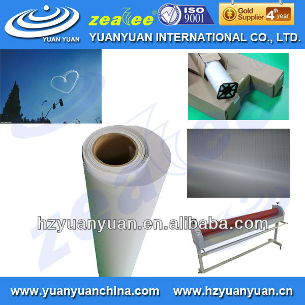 gloosy/matte white backing paper inkjet pvc uv-resistant cold lamination film for photo paper in roll