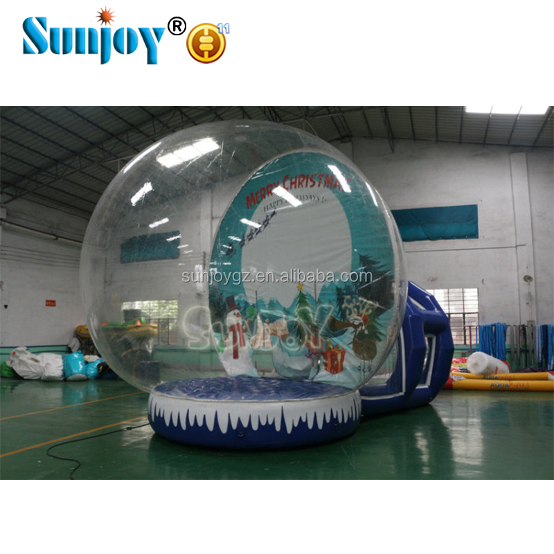 Outdoor Life Size Snow Globe Inflatable Decorations Clear Inflatable Dome for Live Show,Xmas Inflatable Human Size Snow Globe