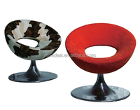 round swivel chair with chromed metal part ,mould foam chair , leisure chair (NH565)