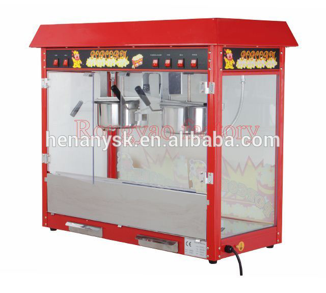 IS-POP6A-2 Commercial Double Commercial 2 Pot Deluxe Steel Pot Popcorn Machine