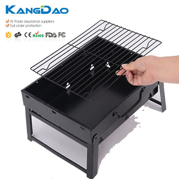Outdoor Picnic Hand Held Bbq Fold Up Table Top Charcoal Barbecue Grill