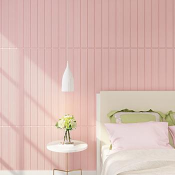 new design foam wall stickers vinyl wallpaper tahan air wallpaper