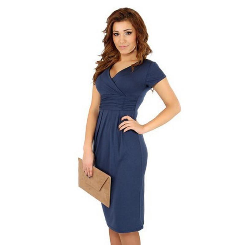 067720855 Verano vestidos de maternidad elegante con cuello en V vestido embarazada  ropa para mujeres embarazadas ropa