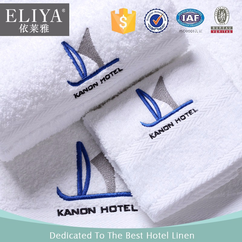 ISO9001 certified woven embroidered towels and bedding for hotels
