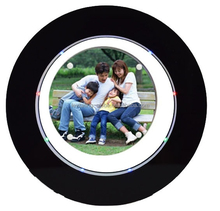 forma rotonda nero photo frame mobile