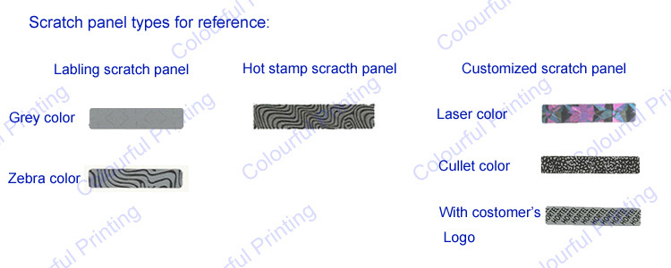 High Quality Scratch Off Labels Sticker Pin Number Prepaid Card ...