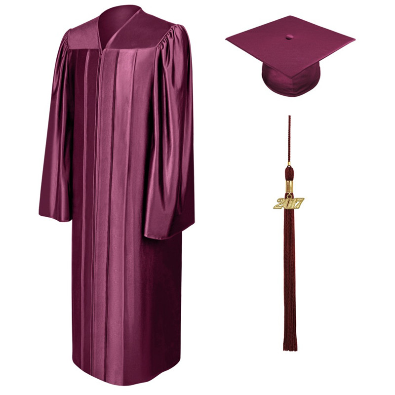 Middle school cap and gown for graduation