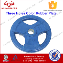Colored Barbell Plate with Three Holes