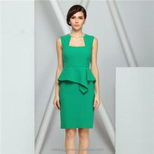Vestidos para promocion color verde jade para ninas