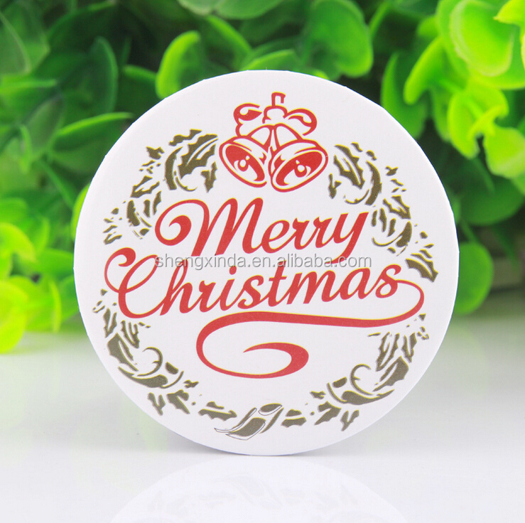 Round metal button label pin badge with custom logo for christmas gift