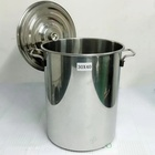 Stainless steel bucket soup pot, soup pot, food bucket with cover and thickening porridge barrel
