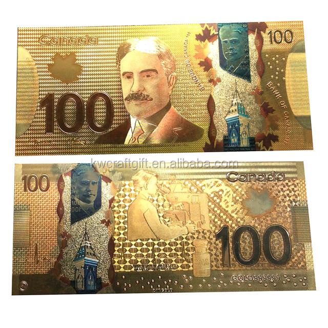 Para Faturası Kanada Doları 100 Para Birimi Banknotu özelleştirme