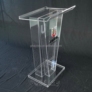 YZ-0010 China manufacture clear acrylic podium pulpit lectern table church devout