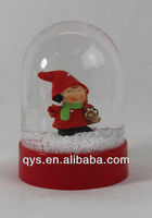 Snow globe with resin cute girl inner for gifts