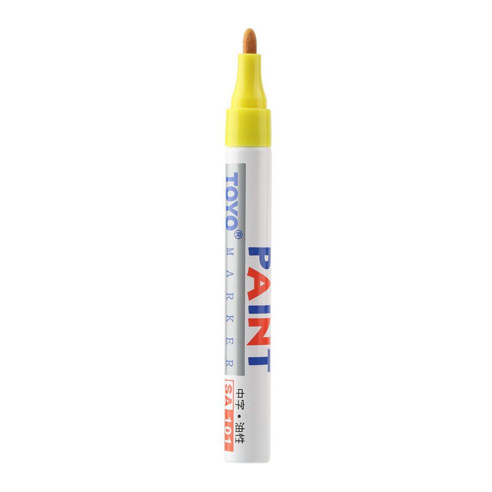 По всему желтый цвет автомобиля шин протектора резиновая металла постоянное краска маркер
