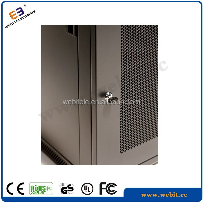 Front windows type metal perforated door +single section+19 inch Wall mounted cabinet