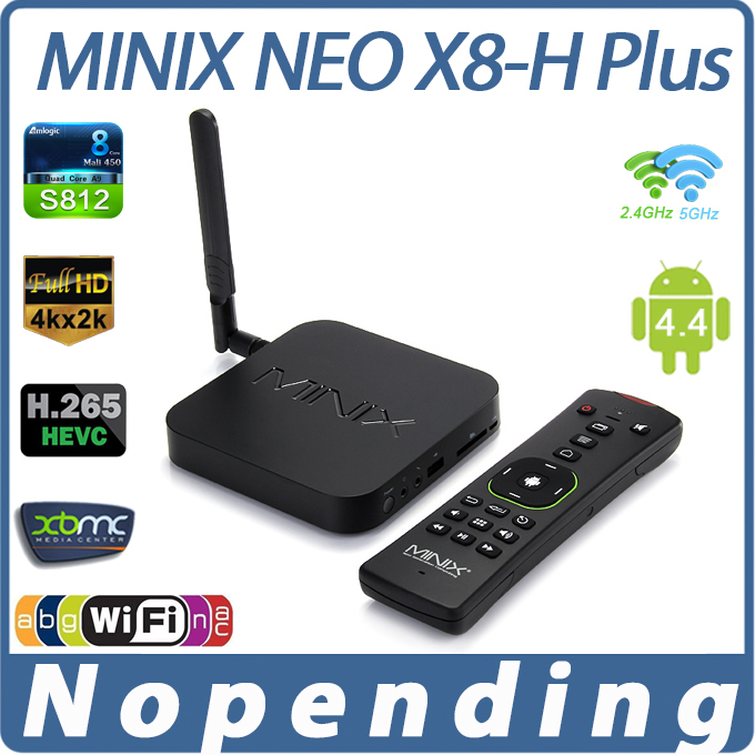 MINIX NEO X8-H Android TV Box Amlogic S802-H Quad Core 2.0GHz 2G/16G 2.4G/5GHz