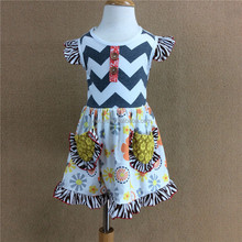 2018 Summer wholesale Boutique sleveless New Spring Summer Children Toddler Dress Fancy Frocks Design Baby Princess girl Kids