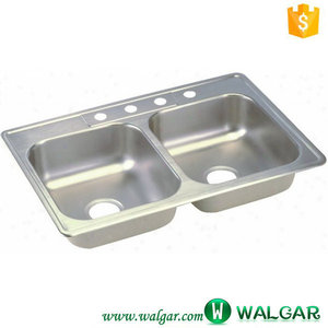 32x22 inch Drop-in cUPC Stainless Steel Top Mount Kitchen Sink with 4 Four Holes