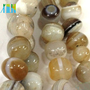 Wholesale nature gemstone natural brazil agate stone beads