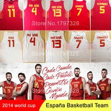 2cd129d7f1ae 2014 World Cup Spain Jersey baloncesto Pau Gasol