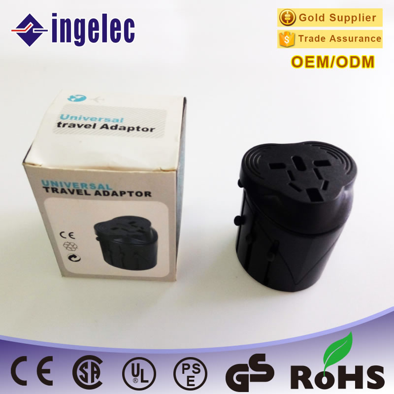 All in One Universal International Plug Adapter /World Travel AC Power Charger Adaptor with AU US UK EU Plug