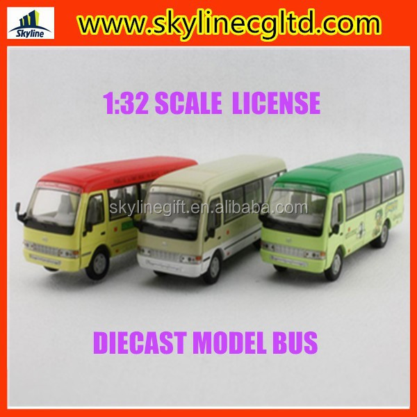 Hot sale diecast cars toy Licensed diecast bus model,1:32 scale diecast bus toy