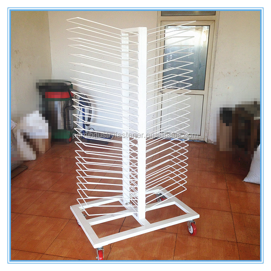 Tubul Support Metal Cabinet Door Drying Rack