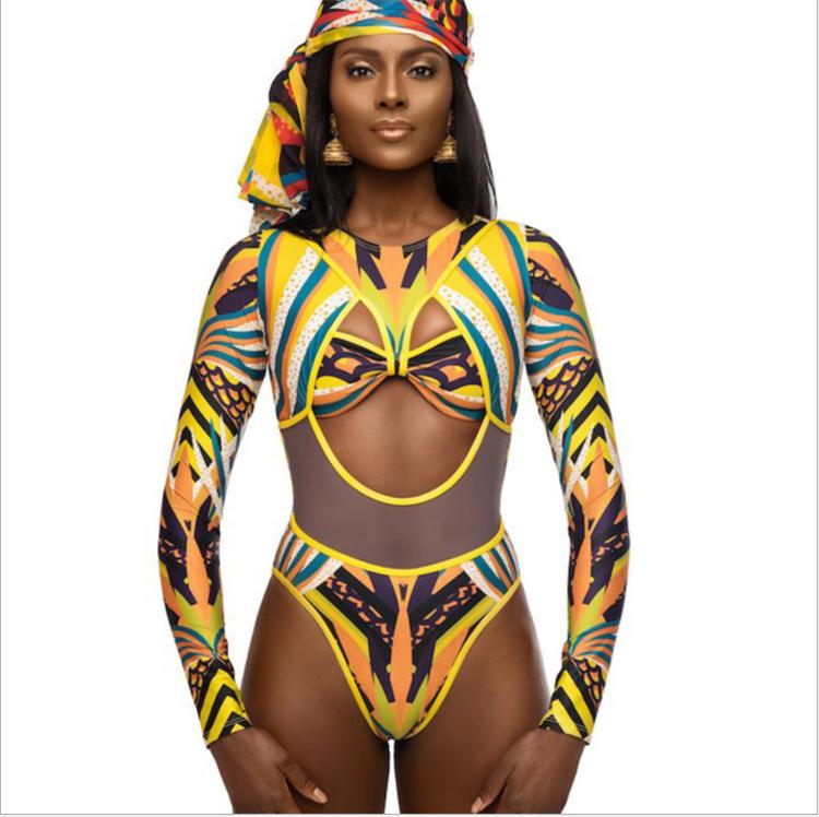 d305a2eb8e2c Qy3820 Mujeres Una Pieza Tribal De Manga Larga Traje De Baño De Impresión  Africana De Baño - Buy Traje De Baño,Traje De Baño Estampado ...