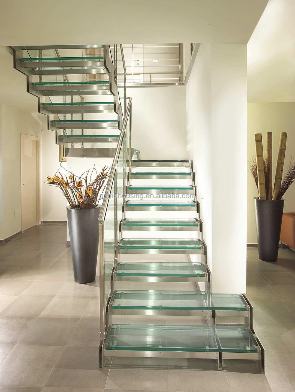 Prefabricated Glass Floating Stairs Manufacturer Buy