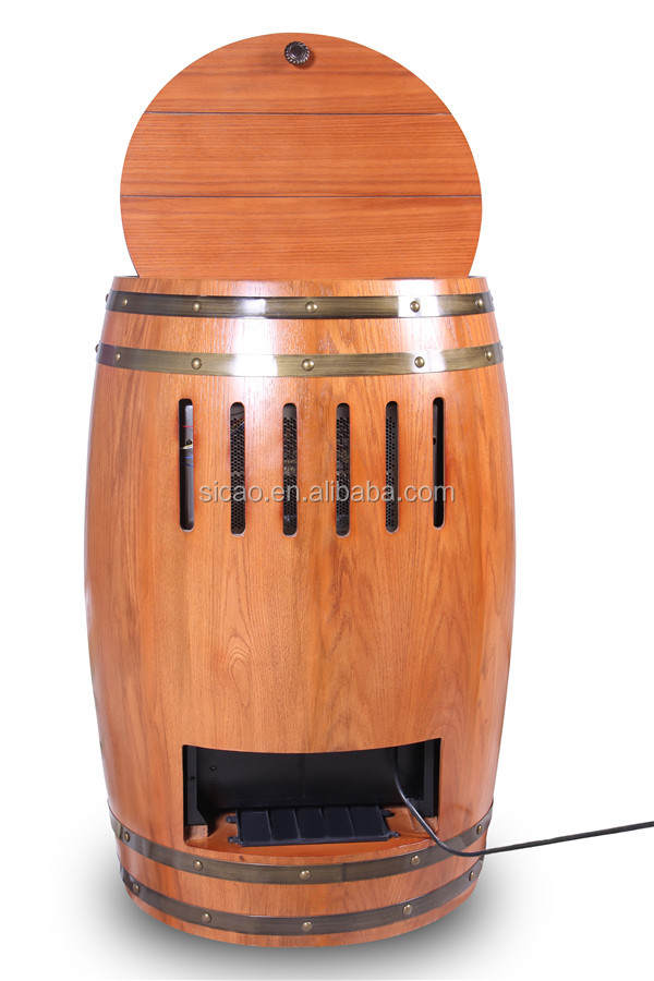 electric wine barrel furniture wine storage cabinet fridge electric vintage furniture