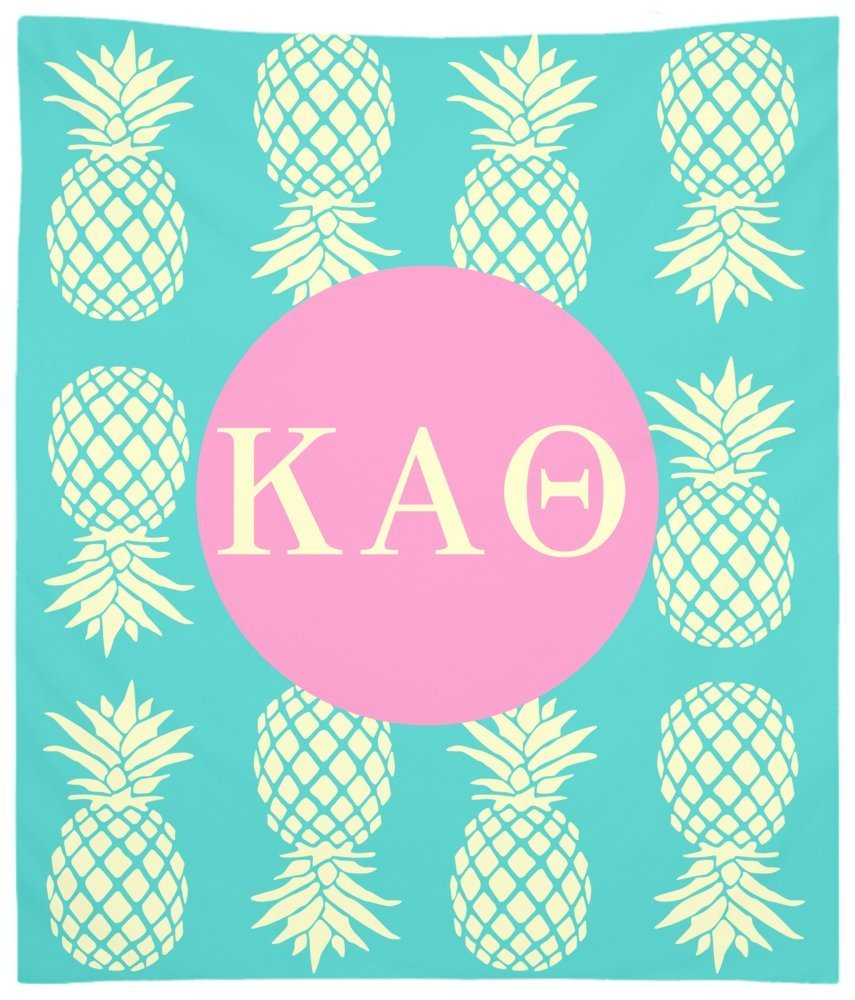Kappa Alpha Theta Pineapple Pattern Wall Tapestry for Bedroom or Dorm