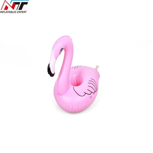 Wholesale Pvc Inflatable Beer Can Holder Pool Drink Cup Float Inflatable Flamingo Cup Drink Holder