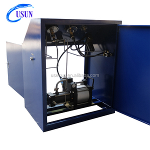 USUN brand Model:WS-GB40 40:1 ratio 200-300 bar air driven helium gas booster pump unit for cylinder testing